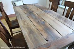 DIY farmhouse table. Just found my husbands next woodworking project.