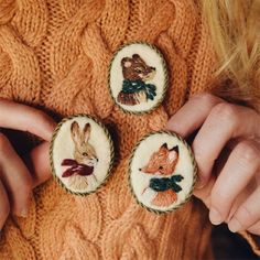 My Owl Barn: Beautiful Hand Embroidered Products by Ellen Tyn Embroidery Art, Cross Stitch Embroidery, Embroidery Patterns, Brooches Handmade, Needlework, Sewing Projects, Arts And Crafts, Crafty, Inspiration