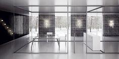 tabique vidrio abierto techo - Buscar con Google