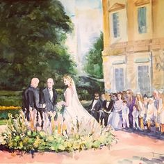 Watercolor live painting during ceremony by the talented Natalia Elina on one of our latest Destination Weddings at Wedding Painting, Destination Weddings, Elegant Wedding, Watercolor, Live, Art, Pen And Wash, Art Background, Watercolor Painting