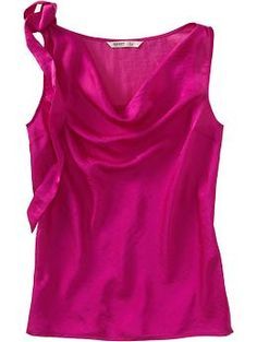 Fuchsia Satin Tie-Shoulder Blouse from Old Navy.