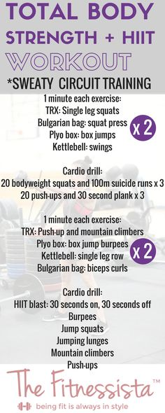 Total body circuit and HIIT workout