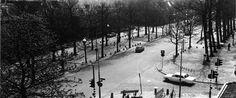 1965: Overzichtsfoto van de Groest, met rechts de Herenstraat. Bron: Streekarchief Gooi- en Vechtstreek.