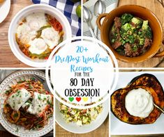 Looking for Pre and Post Workout Recipes for the 80 Day Obsession...that aren't boring? Look no further!