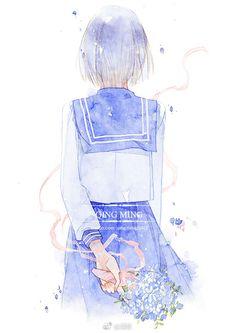 Pass me on. Art Anime, Anime Art Girl, Manga Girl, Manga Anime, Beautiful Anime Girl, Anime Love, Anime Guys, Tmblr Girl, Anime Scenery Wallpaper