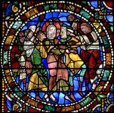 Stained glass Windows of Cathedral of Chartres, France - A UNESCO World Heritage… Medieval Stained Glass, Stained Glass Church, Stained Glass Angel, Faux Stained Glass, Leaded Glass, Stained Glass Windows, Mosaic Glass, Wine Bottle Wall, Glass Rocks