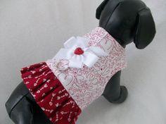 Valentine Dog Harness  or  Cat  Ruffled Harness
