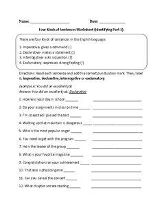 Printables Kinds Of Sentences Worksheet types of sentences worksheets englishlinx com board pinterest practicing four kinds worksheet
