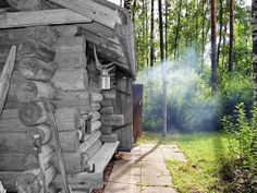 An old timber made  smoke sauna - Vanhoista hirsistä tehty savusauna. - Ilta-Sanomat