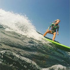 You can't stop the waves from coming, so better to learn how to surf 'em  @saltkissed ripping in the surf suit! #surfergirl #activewomen #teamsensi #jointheadventure