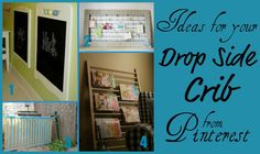 Really clever upcycling from that old baby crib - don't throw them out! 28 ideas for upcycling a drop-side crib