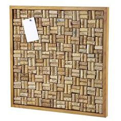 Mahogany wood cork board frame for two hundred fifty-six wine corks.  Product: Cork board frameConstruction Material: Mahogany wood and cork  Color: Natural Dimensions: 22 H x 22 WNote: Approximately 256 wine corks are required to complete - not included. Wine corks vary in size, and some will need to be cut to fit.