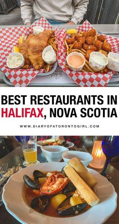 Halifax, Nova Scotia is filled with amazing seafood spots and delicious food. Here are the best restaurants to eat at in Nova Scotia, Canada! Halifax Restaurants, Visit Canada, Canada Trip, Nova Scotia Travel, Sweet Potato Rolls, Canadian Travel, Canadian Rockies, Spicy Salmon, Food Spot