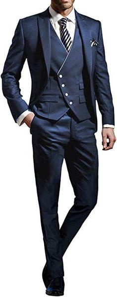 Suit Me Hommes 3 Pcs Costume Slim Fit Veste de Costume de Smoking Fest de  Mariage c0ae05db09e6