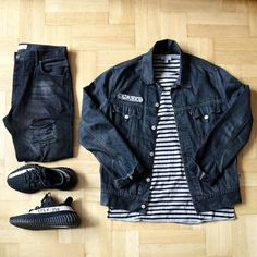 Outfirgrid - Levis jacket / COS tee / Zara jeans / adidas Yeezy 350 v2 shoes