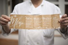 Menu. Love. Design by Julie Song Ink. Photography By / http://justinmarantz.com/