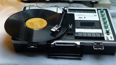 1970 Crown Japanese Green World Miracle Portable Music Center SCP-77FW