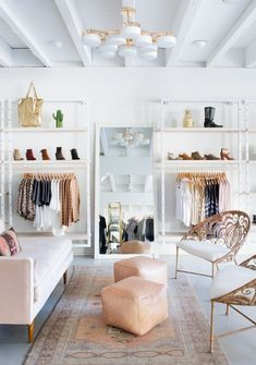 Stylish brick and mortar stores have a special place in every fashion lover's heart. And this feminine new boutique in Austin, Texas is no exception.