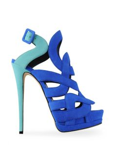 Giuseppe Zanotti sandals blue wave via Luxury store. Click on the image to see more!