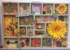 Welcome Fall - Scrapbook.com - Made with Tim Holtz and Bo Bunny supplies.
