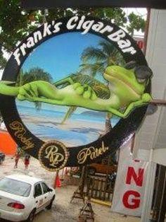 Frank's Cigar Bar, Roatan, Honduras