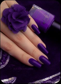 Lovely purple nails