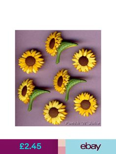 AUTUMN SUNSET Flowers Jewels Brown Garden Novelty Dress It Up Craft Buttons