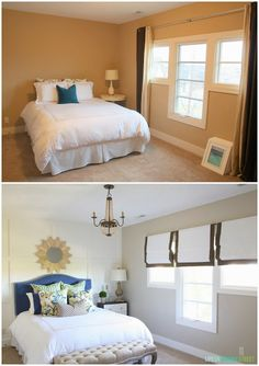 Guest bedroom before and after makeover
