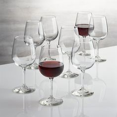 Set of 8 Boxed 12 oz. Wine Glasses   Crate and Barrel