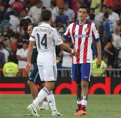 Just a couple of Mexicans kicking the ball in #Madrid today. #Atletico #HalaMadrid