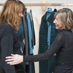 Barbara Locatelli and Designer Cinzia Minghetti