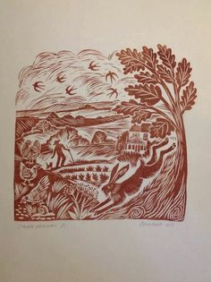 Celia Hart - her awesome linocut work is to die for!