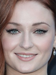 Close-up of Sophie Turner at the 2017 Season 7 premiere of 'Game of Thrones.'