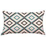 Viahwyt Rectangle Linen Geometric Lines Sofa Bed Home Decor Pillowcase Cushion Cover (K)