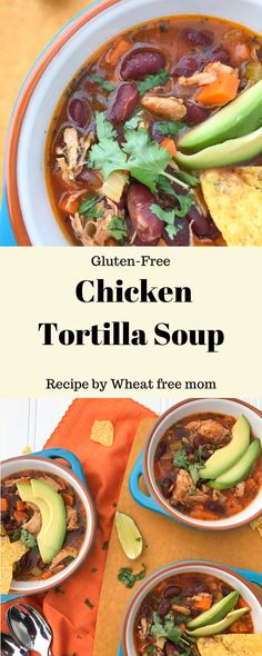 Delicious gluten-free recipes your family will love. Over 800 recipes, from baked goods to main dishes. Meal Recipes, Gluten Free Recipes, Mexican Food Recipes, Chicken Recipes, Dinner Recipes, Ethnic Recipes, Chicken Tortilla Soup, Free Meal, Gluten Free Chicken