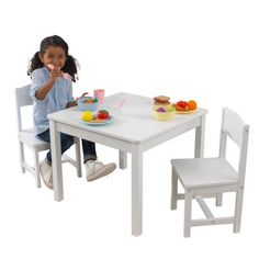 Kidkraft Round Table And 2 Chair Set Whitenatural.Amazon Com Kidkraft Ro C154und Storage Table 2 Chair Set