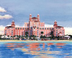 The beautiful Lowe's Don Ce Sar Hotel in #StPeteBeach #Fl.  Learn about it's colorful past at www.Loewshotels.com/Don-CeSar-Hotel   And...for what to do when you get here, visit: www.TampaBayBeaches.com