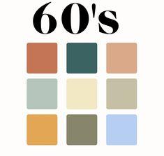 Colour Pallette, Colour Schemes, Color Combos, Color Patterns, Retro Color, Colour Board, Color Stories, Color Swatches, Color Theory