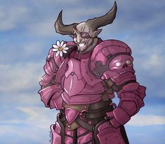 It's Pretty by Tamarandom: Bull decked out in dawnstone armour for spring :3