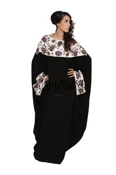 Akhawat Couture Silk Embroidered Abaya with Diamante Detailing Butterfly Abaya, Signature Collection, Embroidered Silk, Kaftans, Abayas, Bomber Jacket, Couture, Elegant, Hijab Ideas