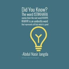 SistersHalaqah : Istikhara- Abdul Nasir Jandga