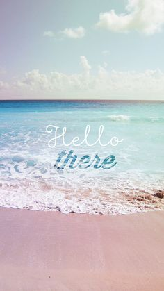 Hello There Summer Wave Beach iPhone 6 Wallpaper.jpg 750×1 334 пикс