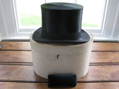 19th Century Gents Mole Skin Top Hat retailed by by RubydoDesigns