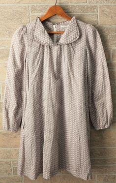Boutique LIHO Girls 10 Cotton Shift Dress Peter Pan Collar Lavender Gray Floral #Liho #Dress #DressyEverydayHolidayParty