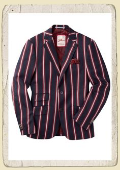 Dapper gent blazer striped | Retro waistcoats/coats | Misspoppywear, retro shop
