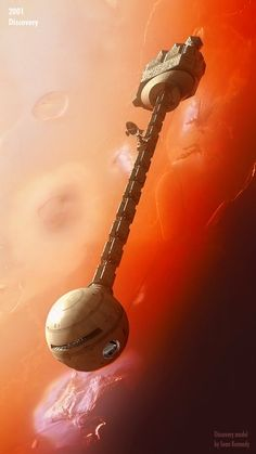 2001:Discovery by Graham TG The Discovery adrift over Jupiter's moon Io.