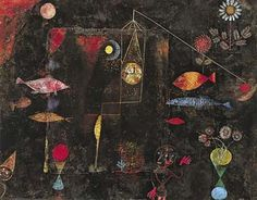 "This painting is called ""Fish magic"" and it was done by Paul Klee in 1925.  This artwork is expressionism which is a style of painting that  expresses artist's emotions, feelings, or thoughts into the work.  As the painting shows, the artist expressed himself on his thoughts and ideas into the painting and made it interesting and fresh."