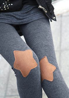 Adorable Star Patched Leggings