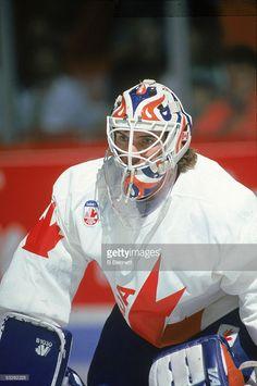 Goalie Gear, Goalie Mask, Hockey Goalie, Hockey Players, Ice Hockey, Canada Cup, Edmonton Oilers, Nhl, Football Helmets