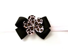 Pink Cheetah Bow Headband